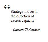 Clayton Christensen on strategy.