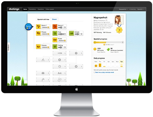 Duolingo Gamification in Online Learning